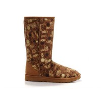 Discount Ugg Boots Classic Fancy 5998 Chestnut For Women 84 84