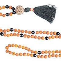 Meditation Chakra Jewelry Rudraksha, Black Agate Stone Beads Meditation Mala Prayer Beads