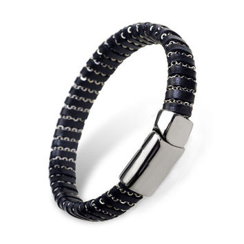 Hot Sale Shiny Awesome Gift Great Deal Stylish New Arrival Stainless Steel Titanium Men Accessory Korean Cool Ring Bracelet [6526724355]