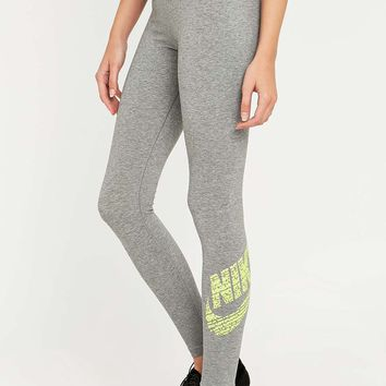 Nike Leg-A-See Grey Logo Leggings - Urban Outfitters