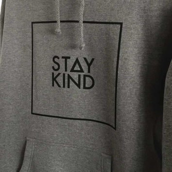 STAY KIND HOODIE - HEATHER-GRAY (UNISEX)