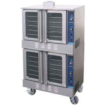 Blue Flame Commercial Kitchen 6 Burner Natural Gas Double Convection Oven