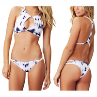PRINTED SEXY HOLLOW OUT BIKINI