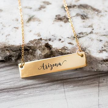 Arizona  Gold / Silver Bar Necklace
