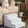 Soft Sherpa Covered Pet Dog/Cat Steps Stairs Access Bed Chair Sofa Washable