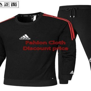 Adidas long-sleeved t-shirt and Trousers 2018 Spring Clothes AK L-4XL AD119 Red