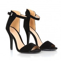 Missguided - Kamary Suede High Heeled Sandals In Black