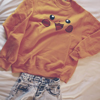 Pikachu Pokemon Sweater Pull Over