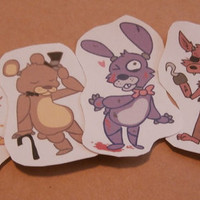 FNAF Paper Stickers (Five Nights at Freddys)