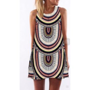 Print Sleeveless Amazon Hot Sale Dress