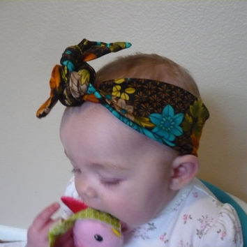 Baby Top Knot Headband, Baby Girl Headband, Hair Tie, Newborn Baby Headwrap Bandana Headscarf Top Knot Women Children Baby Goodtreasures123