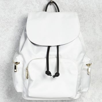 Nylon Flap-Top Backpack
