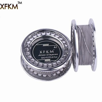 XFKM 5m/roll  Flat Alien Clapton Wire for RDA RBA Rebuildable Atomizer Heating Wires Coil Tool Alien Clapton Heating Wire