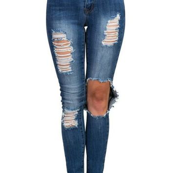 New Beginnings Distressed Jeans