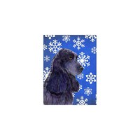 Caroline's Treasures Cocker Spaniel Winter Snowflakes Holiday House Flag