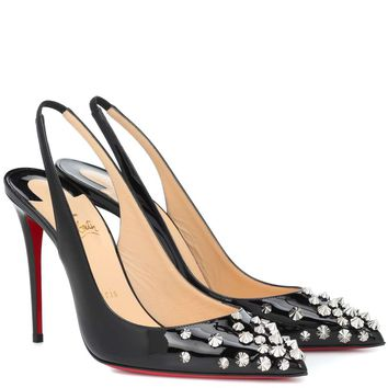 Drama Sling 100 patent leather pumps