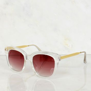 Crystal Clear Trim Sunglasses