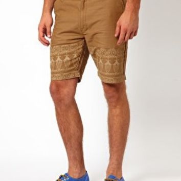 Bellfield Paisley Print Shorts at asos.com