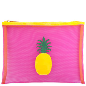 Pineapple Mesh Flat Case