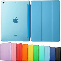 Ultra Slim Tri-Fold PU Leather with Crystal Hard Back Smart Stand Case Cover for iPad Air 2 iPad Pro 9.7