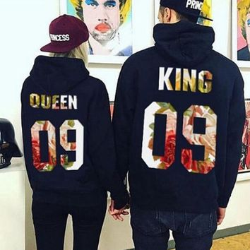 womens queen king hoodies lover sweater gift necklace  number 1