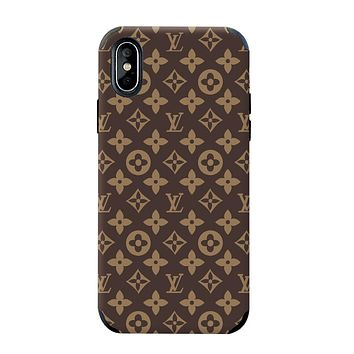 LV & Supreme Tide brand color matching men and women all-inclusive anti-drop iphone7plus phone case #1