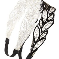 Lulu Leaf Headbands (Set of 2) (Juniors) | Nordstrom