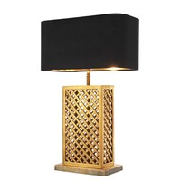 Vintage Brass Rattan Table Lamp | Eichholtz Idyllwild