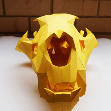 Paper Sculpture Kit - Lion Skull- 1:1