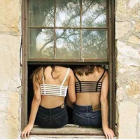 Celebrity Sexy Women Bralette Cage Caged Back Cut Out Padded Bra Bralet Crop Top, tank,