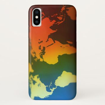 Day and night world map iPhone x case