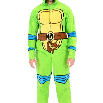 TMNT Teenage Mutant Ninja Turtles Leonardo Green Union Suit
