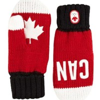 Canada Olympic Collection 2014 Snow Top Red Mittens Large/X-Large