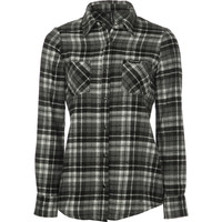 Discrete Array Flannel Shirt - Long-Sleeve - Women's Black/White,