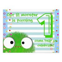 cute monster baby's first birthday party