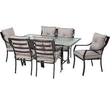 7-Piece Outdoor Dining Set Family BBQ Sun Summer Pool Gift New Free Shipping