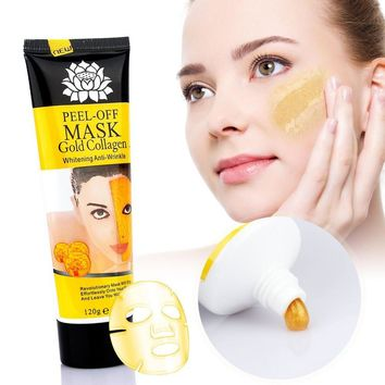 24k Gold Collagen Peel-off Facial Anti-Wrinkle Face Masks Skin Care Face Lifting Firming Moisturize 4.22 Fl.oz