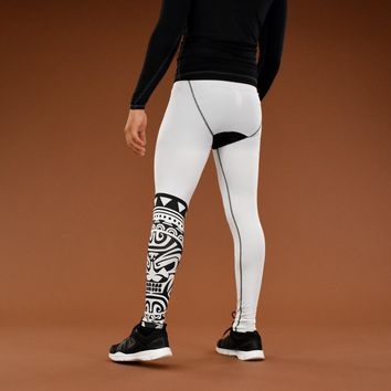 Oceanic Warrior White Tights for men