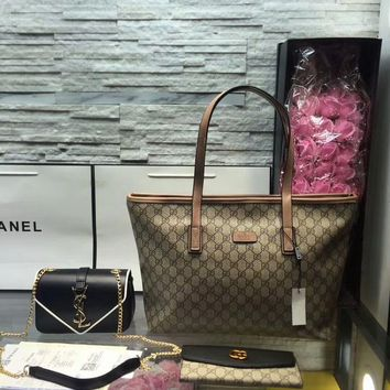 Year-End Promotion 3 Pcs Of Bags Combination (Gucci Bag ,YSL Mid Bag ,Gucci Wallet)