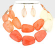 Statement Bead Necklace Earrings Coral Fashion Jewelry New Boutique Lilly