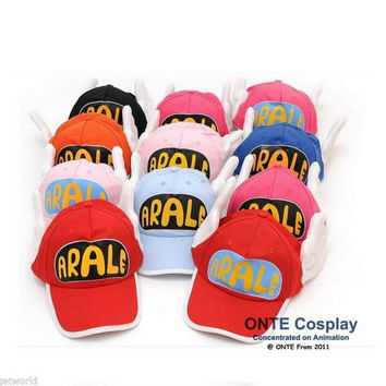 Dr.Slump Arale Angel Wings Anime Cosplay Hats Summer Cap for Adult size