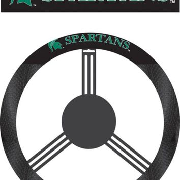 DCCKG8Q NCAA Michigan State Spartans Poly-Suede Steering Wheel Cover