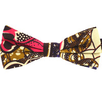 Tok Tok Designs Pre-Tied Bow Tie for Men & Teenagers (B408, African Wax Fabric)