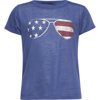Full Tilt Americana Shades Girls Tee Blue  In Sizes