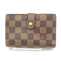 Authentic Louis Vuitton Wallet Portefeuille Viennois Browns Damier 151402