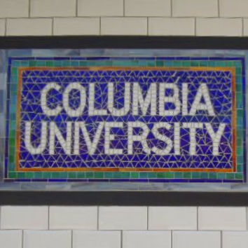 NYC Subway Mosaic Glass Install - Columbia University New York City