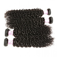 Malaysian Jerry Curly Weave 4Bundles Deals Virgin Hair 1B Color