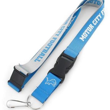NFL Detroit Lions Motor City Football Lanyard