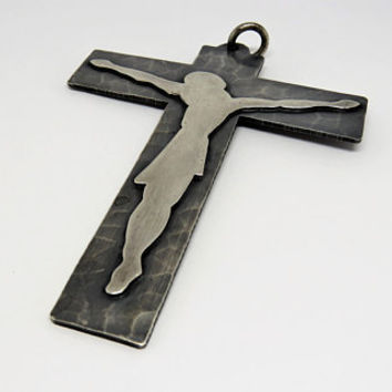 Vintage French, Modernist, Pectoral, Clergy, Crucifix, SHIPPING INCLUDED