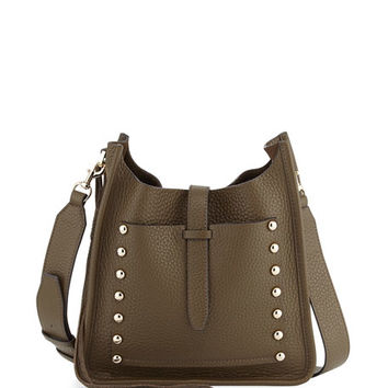 Rebecca Minkoff Small Unlined Leather Feed Bag, Olive
